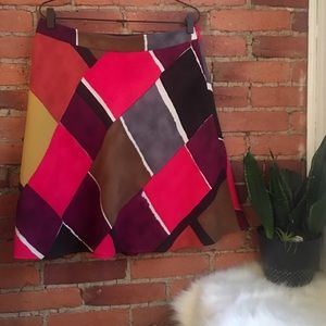 Loft color block skirt